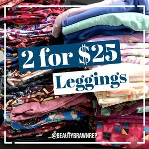 LuLaRoe Pants - LLR OS Multicolor Chevron Print Leggings